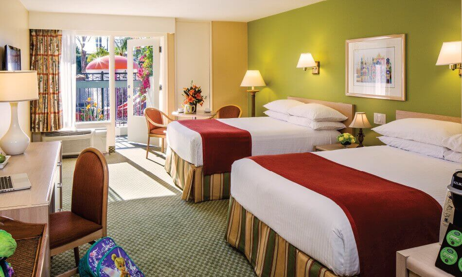 hotel room at family friendly disneyland hotel