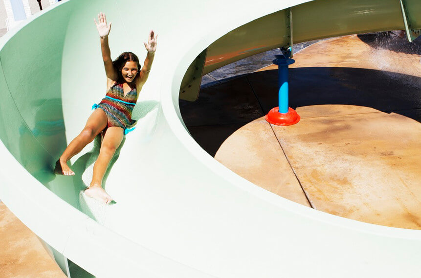 Howard Johnson Anaheim hotel Castaway Cove water slide