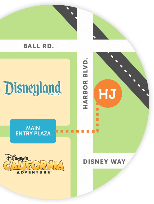 Howard Johnson Anaheim hotel map