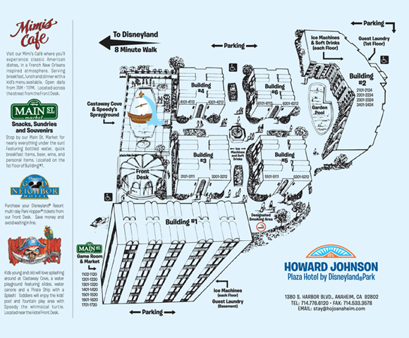 Howard Johnson Anaheim hotel property map
