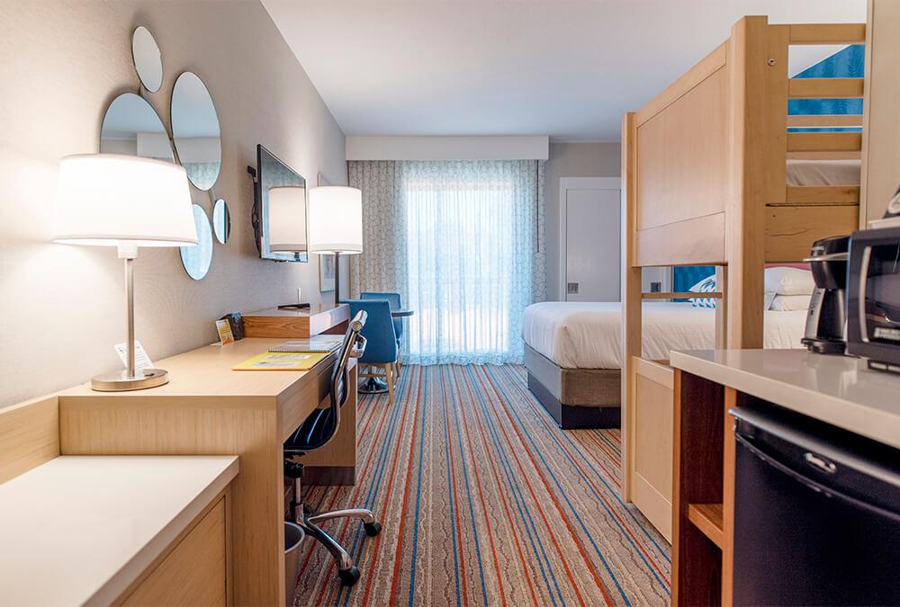 hotel room at Howard Johnson Anaheim hotel