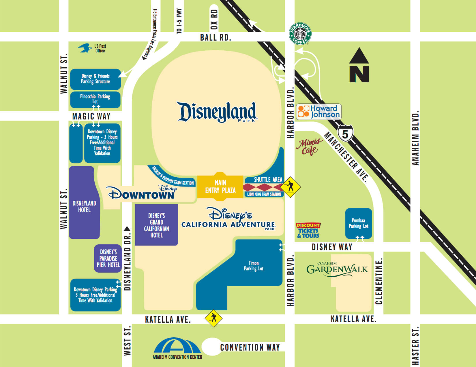Anaheim Area Map Howard Johnson Hotel Amp Water Playground