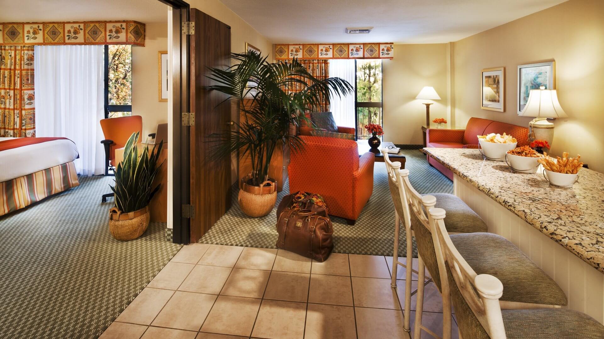 Howard Johnson Anaheim hotel room interior