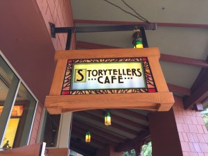 Storytellers Cafe outdoor sign