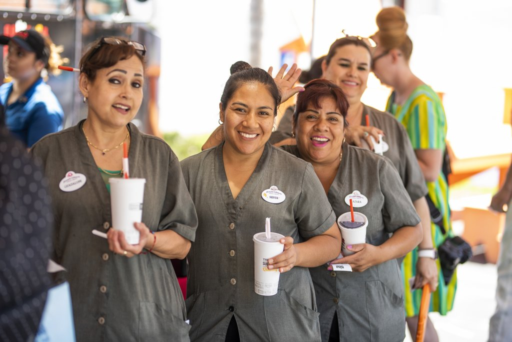Howard Johnson Anaheim staff smile for the camera