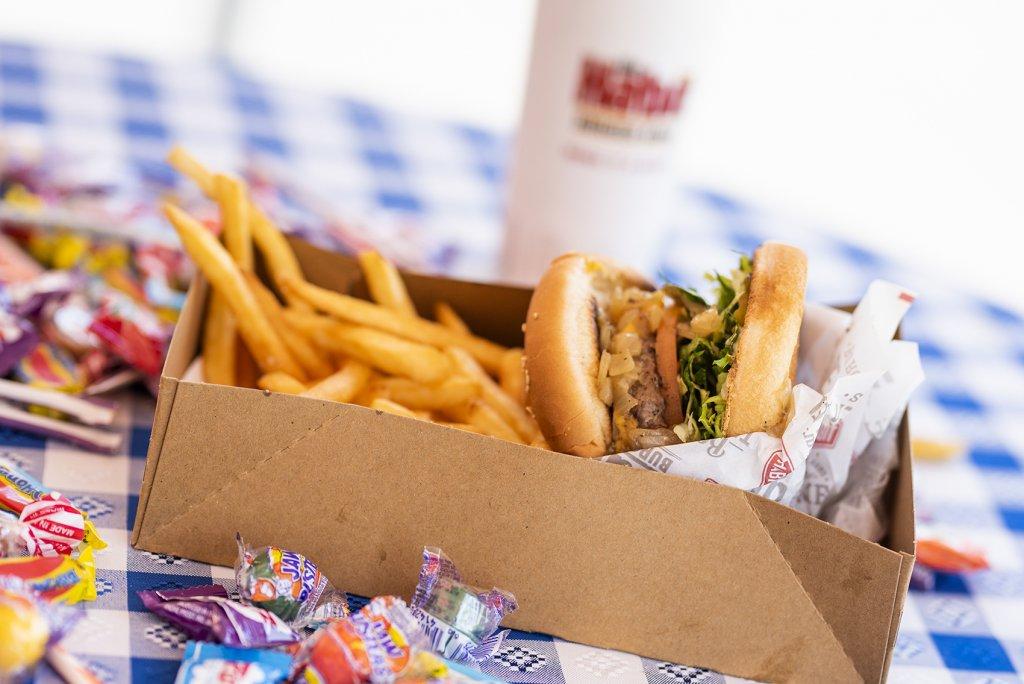 Habit burgers on a table