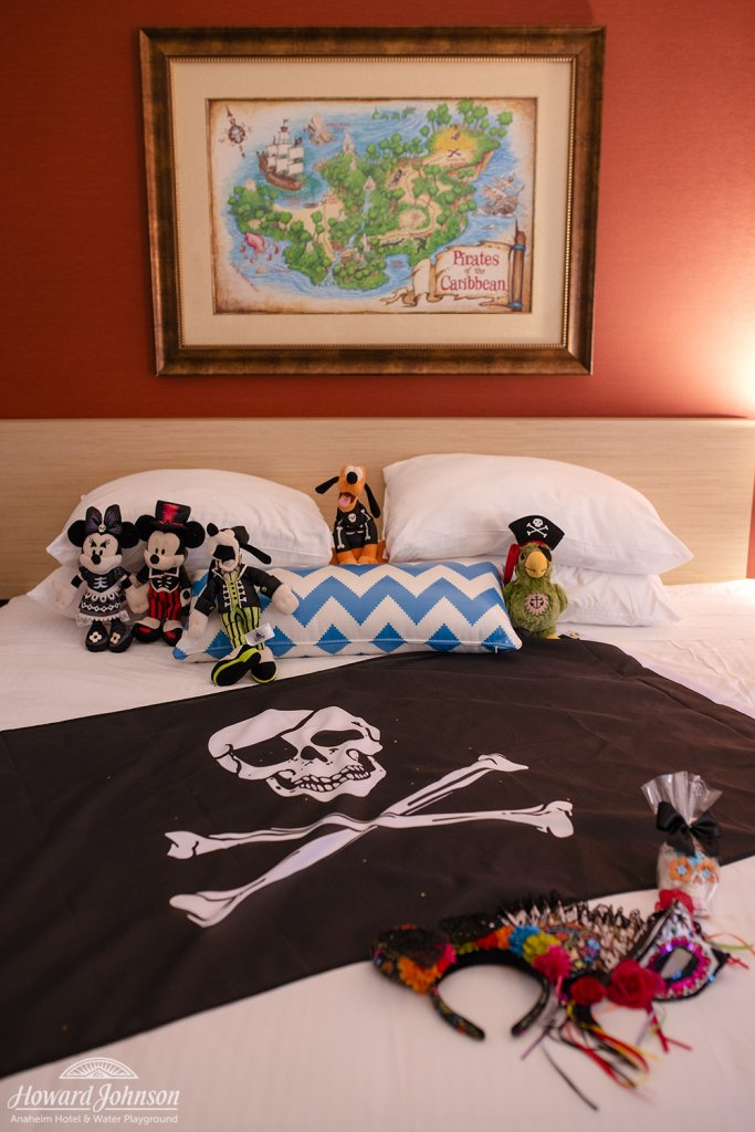 a Disney pirate themed hotel room