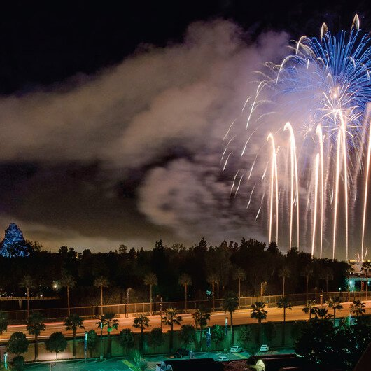 Disneyland fireworks at Howard Johnson Anaheim hotel