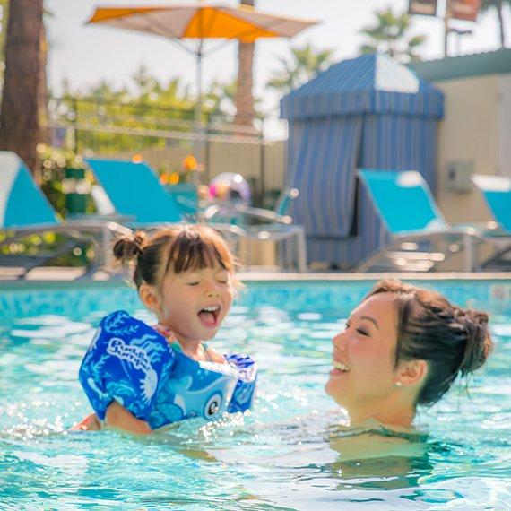 garden-pool-mom-daughter